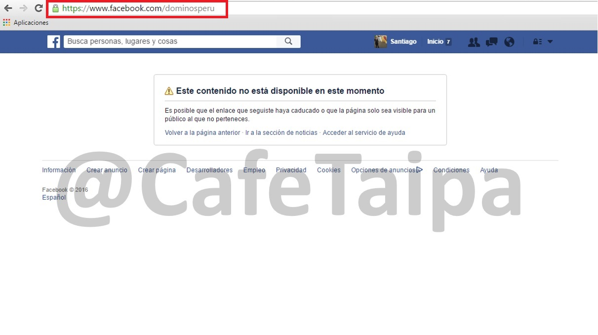 Dominos_Pizza_Peru_y_su_Facebook_inactivo-Cafe_taipa_Peru_consultores_en_reputacion_y_marketing