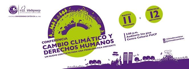 Conferencia Cambio Climático y Derechos Humanos