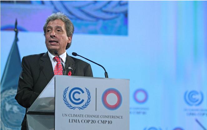 Manuel Pulgar Vidal, presidente de la COP20 y ministro del Ambiente de Perú