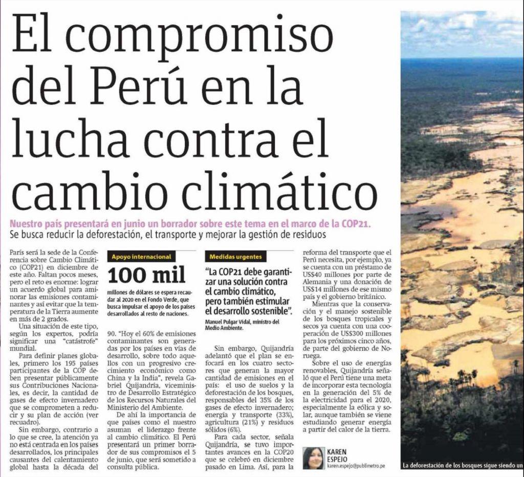 Peru Compromisos el Compromiso Del Perú en la